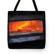 Horse Shoes On Fire Tote Bag
