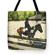 Horse Showing Tote Bag