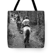 Horse Trail Tote Bag by Frozen in Time Fine Art Photography
