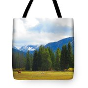 Horse View Tote Bag