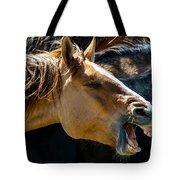 Horse Yawn Tote Bag