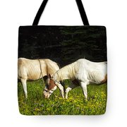 Horses Among Wildflowers Tote Bag