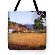 Horses And Barn In The Fall 4 Tote Bag