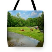Horses At Home On The Range Tote Bag