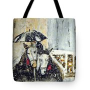 Horses At Stephansdom  Tote Bag