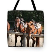 Horses Glacier National Park Montana Tote Bag