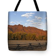 Horses In North Fork Canyon   #4106 Tote Bag
