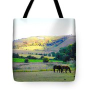 Horses In The English Countryside Tote Bag