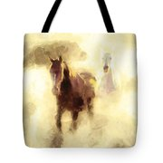 Horses Of The Mist Tote Bag