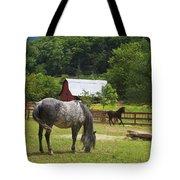 Horses On A Farm Tote Bag