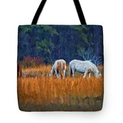 Horses On The March Tote Bag
