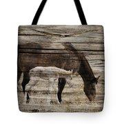 Horses On Wood Tote Bag