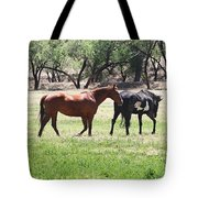 Horses Out Wickenburg Way Tote Bag