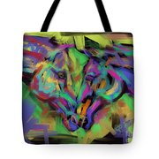 Horses Together In Colour Tote Bag