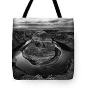 Horseshoe Bend Arizona Monochrome Tote Bag