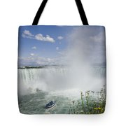 Horseshoe Falls With Maid Of The Mist Tote Bag