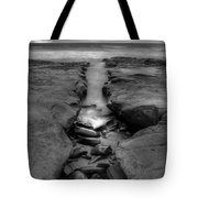 Horseshoes Beach  Black And White Tote Bag