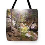 Horsethief Falls Sunburst - Cripple Creek Colorado Tote Bag