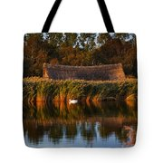 Horsey Mere On The Norfolk Broads On A Still Day In Autumn Tote Bag