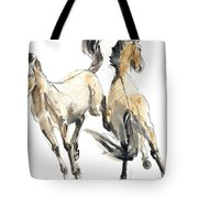 Horsing, 2013 Watercolour And Pigment On Paper Tote Bag