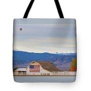 Hot Air Balloon Boulder Flag Barn And Eldora  Tote Bag