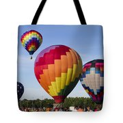 Hot Air Balloon Festival In Decatur Alabama  Tote Bag