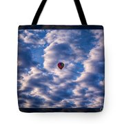 Hot Air Balloon In A Cloudy Sky Abstract Photograph Tote Bag