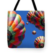 Hot Air Balloon Panoramic Tote Bag by Edward Fielding