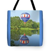 Hot Air Balloon Reflection Tote Bag