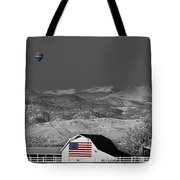 Hot Air Balloon With Usa Flag Barn God Bless The Usa Bwsc Tote Bag