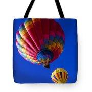 Hot Air Ballooning Together Tote Bag