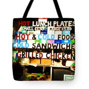 Hot And Cold Foods Tote Bag