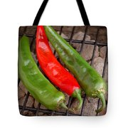 Hot And Spicy - Chiles On The Grill Tote Bag