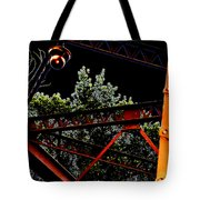 Hot Bridge At Night Tote Bag