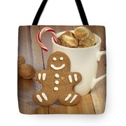 Hot Cocoa And Gingerbread Cookie Tote Bag by Juli Scalzi