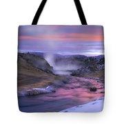 Hot Creek At Sunset Sierra Nevada Tote Bag