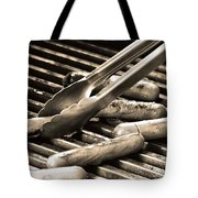 Hot Dogs On The Grill Tote Bag