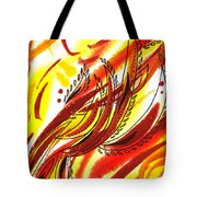 Hot Lines Twist Abstract Tote Bag