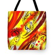 Hot Moving Lines And Dots Abstract Tote Bag