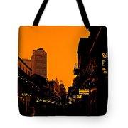 Hot Nights On Bourbon Street Tote Bag