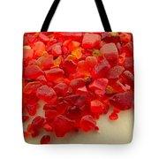 Hot Orange Beach Glass Tote Bag