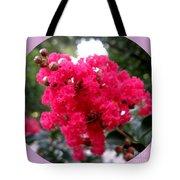 Hot Pink Crepe Myrtle Blossoms Tote Bag