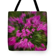 Hot Pink Flower Zoom Tote Bag