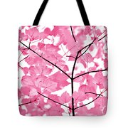 Hot Pink Leaves Melody Tote Bag