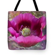 Hot Pink Poppy Tote Bag