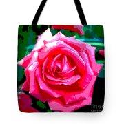 Hot Pink Rose Tote Bag