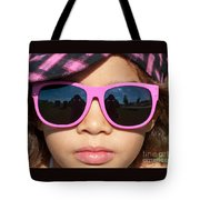 Hot Pink Sunglasses Tote Bag