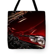 Hot Red Car  Tote Bag