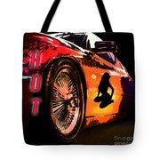 Hot Red Car Tote Bag