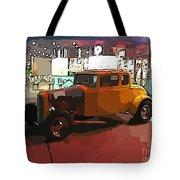 Hot Rod Icon Tote Bag